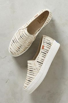 Keds Sequined Stripe Sneakers
