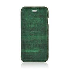 Javu - iPhone 6 / 6s Hoesje - Book Case Retro Houtprint Groen | Shop4Hoesjes