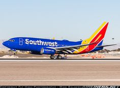 southwest new livery at mccarran airport in nevada