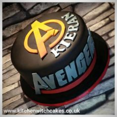 Avengers themed cake without the figures that were purchased from the Disney store All text was hand cut and airbrushed Witch Cake, Cake Business, Kitchen Witch, Birthday Ideas, Cake Decorating, Avengers, Cakes, Store, Disney