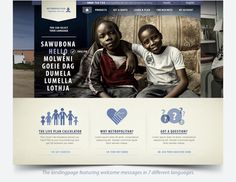Redesign of Metropolitan.co.za by Nelleke van der Maas, via Behance