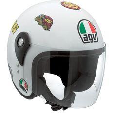 Casque Agv Kid Vale Symbols Blanc #Casque #Speedway #enfant #blanc #moto