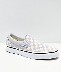4f692560350 Get the convenience of a slip on with all the style of the originals in skate  shoes with a pair of Vans Slip On Checkerboard Grey