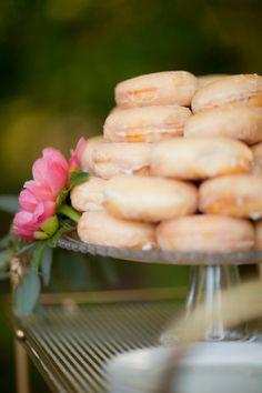 Yummy glazed donuts.