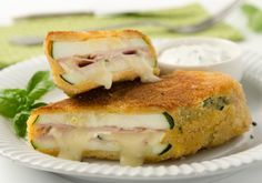 Zucchini Cordon Bleu with Camembert No Salt Recipes, Low Carb Recipes, Cooking Recipes, Healthy Recipes, Vegetable Recipes, Vegetarian Recipes, Food Dishes, Finger Foods, Food Inspiration