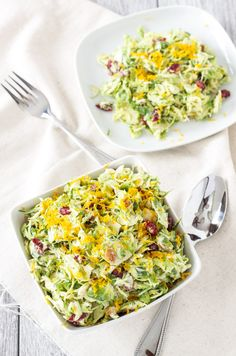 Cranberry Orange Brussels Sprout Slaw. You won't be able to get enough of this sweet tangy winter slaw made with Greek Yogurt.