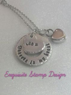Personalized Urn Necklace  Sympathy Gift  by ExquisiteStampDesign