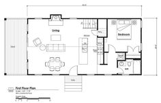 14x40 cabin floor plans tiny house pinterest cabin for 16x40 cabin plans