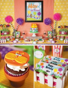 Lorax Birthday Party - this is SO cute!  I wish my kids were young enough to want one of these!