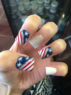 #nails #merica #fourthofjuly #redwhiteandblue