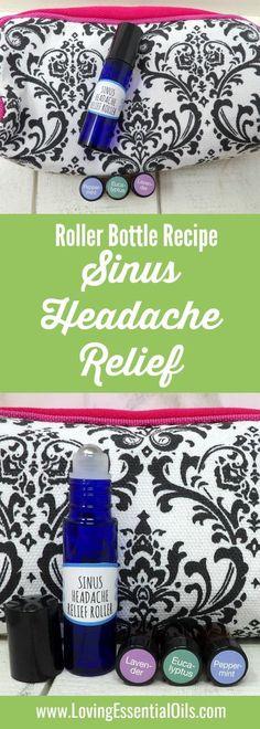 Young Living oils DIY RECIPES - Essential Oils For Sinus Headache Relief - Roller Bottle Recipe | Loving Essential Oils #sinusheadache #essentialoilrecipes #DIYrecipes