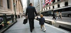 Turismo em Wall Street em viagem de negócios.