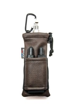 Remember a karabiner on a mod, pack, etc. is a very easy way to carry: belt loop, etc. Vape Accessories, Smoking Accessories, Vape Art, E Cigarette, Vape Smoke, Vape Juice, Leather Pouch, Leather Working, Leather