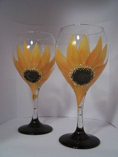 Painted Wine Glass by GranArt