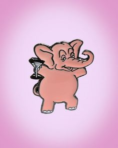 Edward the Tipsy Elephant Brooch Size-  | Pinup Girl Clothing