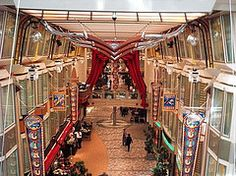 Strolling through the Royal Promenade on Freedom of the Seas.