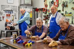 Several residents at Parkway Place, a Buckner Senior Living community in Houston, are creating wooden pieces of artwork to give to children in Buckner. Open On Christmas, Senior Living Communities, Toy Trucks, Children In Need, Hand Carved, Houston, Woodworking, Carving, Community