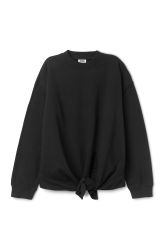 <p>The Tril Knot Sweater merges the simplicity of a basic sweatshirt with a surprising slit detail that can be worn as a knot on the front. It has a relaxed fit, a round neck and ribbed finishes.</p><p>- Size Small measures 115 cm in chest circumference and56,50 cm in length. The sleeve length is 54 cm.<br /></p>