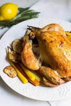 Roast Chicken French-Style (Poulet Roti) – Mon Petit Four - Roasted Chicken Roast Chicken Dinner, Roast Chicken Recipes, Roasted Chicken, Lemon Chicken, Typical French Food, Traditional French Recipes, French Style Chicken Recipe, Poulet Roti Recipe, French Appetizers