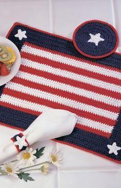 Americana Place Setting Crochet Pattern