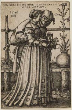 Herzog Anton Ulrich-Museum, HSBeham WB 3.21. Hans Sebald Beham, 'Die Dame und der Tod' (1541)