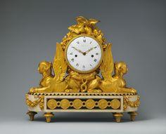 Designed by François Joseph Belanger   Mantel clock (pendule de cheminée)   French, Paris   The Met