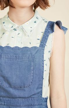 Plus size scalloped pinafore/jumper dress at Modcloth