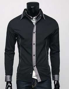 New Mens Luxury Stylish Casual Dress Slim Fit Shirts3 Colours 3 Size 1006-2030    - I picked this out for my boyfriend and he bought it and loved it! The downside for this item would be... If you've got really broad shoulders, you might want to go up a size.