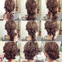 Lovely updo for a wedding or fancy night out.