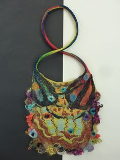 Felted bag by Julie Herberger-Dittrich