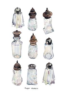 Watercolour Illustrations - Holly Exley Illustrator: Watercolour Illustration | Vintage Sugar Shakers