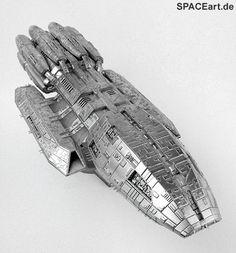 Battlestar Galactica: Pegasus - Metal Finish Spaceship, Fertig-Modell ... http://spaceart.de/produkte/bsg015.php