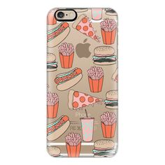 Junk Food - burgers fries pizza hot dogs summer grilling food print -... ($40) ❤ liked on Polyvore featuring accessories, tech accessories, iphone case, phone cases, pattern iphone case, slim iphone case, iphone cover case, print iphone case and iphone cases