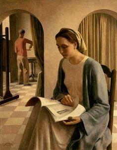 Buisseret, Louis (1888-1956).  Contemplation.  1938.  Art Deco.  Royal Museum of Fine Arts.  Brussels, Belgium.