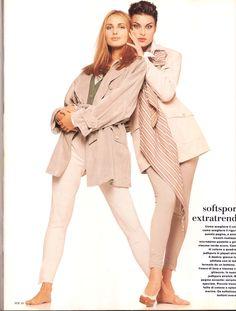 Max Mara magazine SS 1993, Models: Agnieszka Kotlarska& Magali Amadei