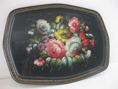 Vintage Floral Tin Decorative Serving Tray by MyLittleSomethings, $20.00