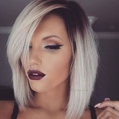 Having great hair makes your feel good, this is why it is important to care for your hair properly. Read this article to learn how to care for your hair and leave . Love Hair, Great Hair, Gorgeous Hair, Hair Day, New Hair, Medium Hair Styles, Short Hair Styles, Beauté Blonde, Platinum Blonde