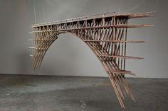 mtsteele.com  hand of a ghost, art, architecture, bridge, sculpture, woodwork