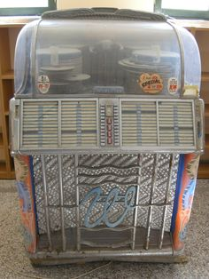 A very old jukebox.