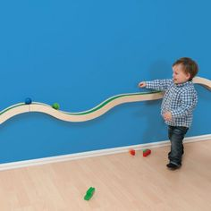 Hill and Valley Wall Track - Dusyma - Kodo Kids - Babyzimmer Baby Boy Rooms, Baby Room, Hills And Valleys, Church Nursery, Toy Rooms, Kids Room Design, Kid Spaces, Kids Furniture, Kids Bedroom