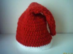 photo prop hand crochet baby boy/girl santa hat by crochetfifi Crochet Santa Hat, Crochet Kids Scarf, Crochet For Kids, Hand Crochet, Crochet Baby, Crochet Hat Tutorial, Crochet Vest Pattern, Baby Boy Beanies, Baby Hats