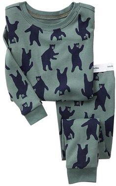 Bear sleep set pajamas #baby #kids