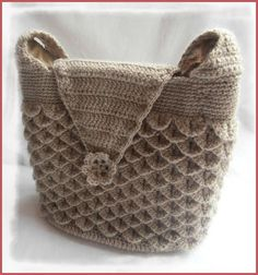 sac au point de crocodile au crochet