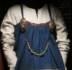 Reconstruction of the Køstrup apron-dress at the National Museum of Denmark. Photo by Hilde Thunem