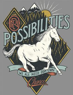 The intention in this design was to represent the freedom that is experienced when new possibilities are opened to us. The hope of a new day is shown in the background through a rising sun while the horse in the foreground expresses freedom and action towards our goal to help find a cure to Autism.