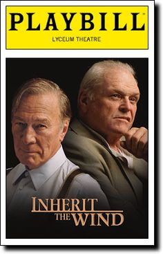 Brian Dennehy and Christopher Plummer in Inherit the Wind. Wish I'd seen that.