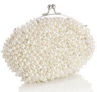 Weddbook ♥ pearl bridal clutch