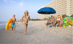 Well, we saw lots of people during our visit to the Crown Reef Resort, not only at the pool but also at the beach -- simultaneously. Looks like the hotel's photo of a sandy beach that a family gets to enjoy all to themselves is just a fantasy.