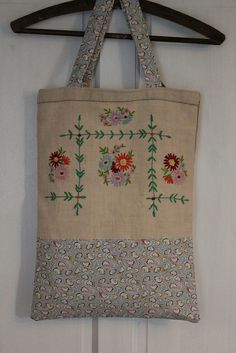 Repurposed Embroidery Tote | Flickr - Photo Sharing!