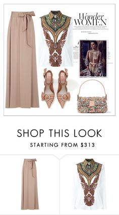 """Maxi Skirt Contest!"" by faten-m-h ❤ liked on Polyvore featuring Lanvin, Etro, Fendi and Alexander McQueen"